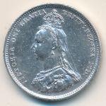 Великобритания, 1 шиллинг (1887 г.)