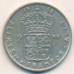 Швеция, 2 кроны (1958 г.)