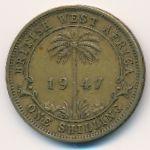 Британская Западная Африка, 1 шиллинг (1947 г.)