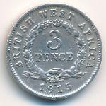 Британская Западная Африка, 3 пенса (1915 г.)