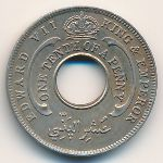 British West Africa, 1/10 penny, 1908–1910
