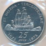 Остров Святой Елены, 25 пенсов (1973 г.)