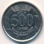 Ливан, 500 ливров (2012 г.)