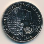 Барбадос, 5 долларов (1995 г.)