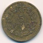 Франция, 5 франков (1938 г.)