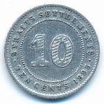 Стрейтс-Сетлментс, 10 центов (1895 г.)