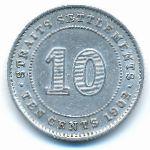 Стрейтс-Сетлментс, 10 центов (1902 г.)