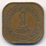 Малайя, 1 цент (1945 г.)