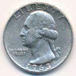 США, 1/4 доллара (1963 г.)