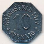 Висбаден., 10 пфеннигов (1917 г.)
