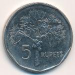 Сейшелы, 5 рупий (2000–2010 г.)