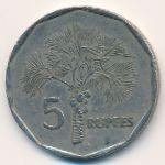 Сейшелы, 5 рупий (2000–2007 г.)