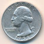 США, 1/4 доллара (1953 г.)