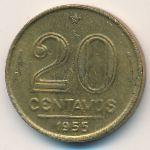 Бразилия, 20 сентаво (1955 г.)