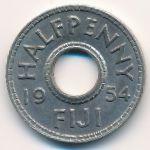 Фиджи, 1/2 пенни (1954 г.)