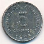 Аргентина, 5 сентаво (1955–1956 г.)