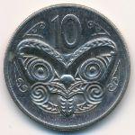Новая Зеландия, 10 центов (1970–1985 г.)