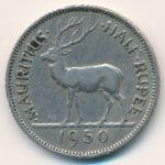 Маврикий, 1/2 рупии (1950 г.)