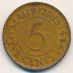 Маврикий, 5 центов (1944 г.)