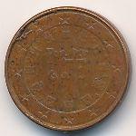 Португалия, 1 евроцент (2004 г.)
