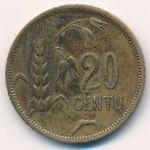 Литва, 20 центов (1925 г.)
