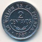 Боливия, 2 сентаво (1987 г.)