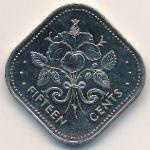 Багамские острова, 15 центов (2005 г.)