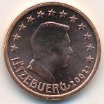 Люксембург, 1 евроцент (2002–2019 г.)
