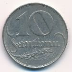 Латвия, 10 сантим (1922 г.)