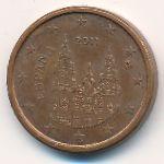 Испания, 1 евроцент (2011 г.)
