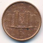 Италия, 1 евроцент (2006–2012 г.)