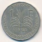 Гваделупа, 1 франк (1903 г.)