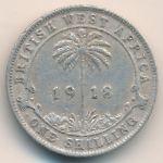 Британская Западная Африка, 1 шиллинг (1918 г.)