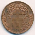 Мадагаскар, 1 франк (1943 г.)
