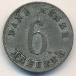 Саксен-Кобург-Гота, 6 крейцеров (1834 г.)
