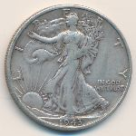 США, 1/2 доллара (1943 г.)