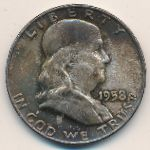 США, 1/2 доллара (1958–1963 г.)