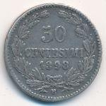 Сан-Марино, 50 чентезимо (1898 г.)