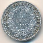 Франция, 1 франк (1894 г.)