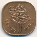 Свазиленд, 2 цента (1982 г.)