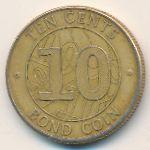 Зимбабве, 10 центов (2014 г.)