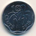 Эсватини, 10 центов (2018 г.)