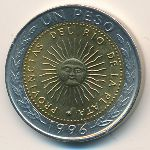 Аргентина, 1 песо (1995–2009 г.)