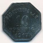 Бад-Хомбург., 10 пфеннигов (1917 г.)