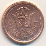 Барбадос, 1 цент (2009–2012 г.)