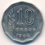 Аргентина, 10 песо (1962–1963 г.)