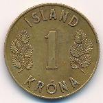 Исландия, 1 крона (1962–1975 г.)