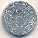 Антильские острова, 5 центов (1991–1997 г.)