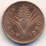 Свазиленд, 1 цент (1986 г.)