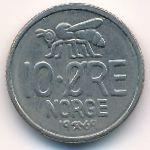 Норвегия, 10 эре (1960–1973 г.)